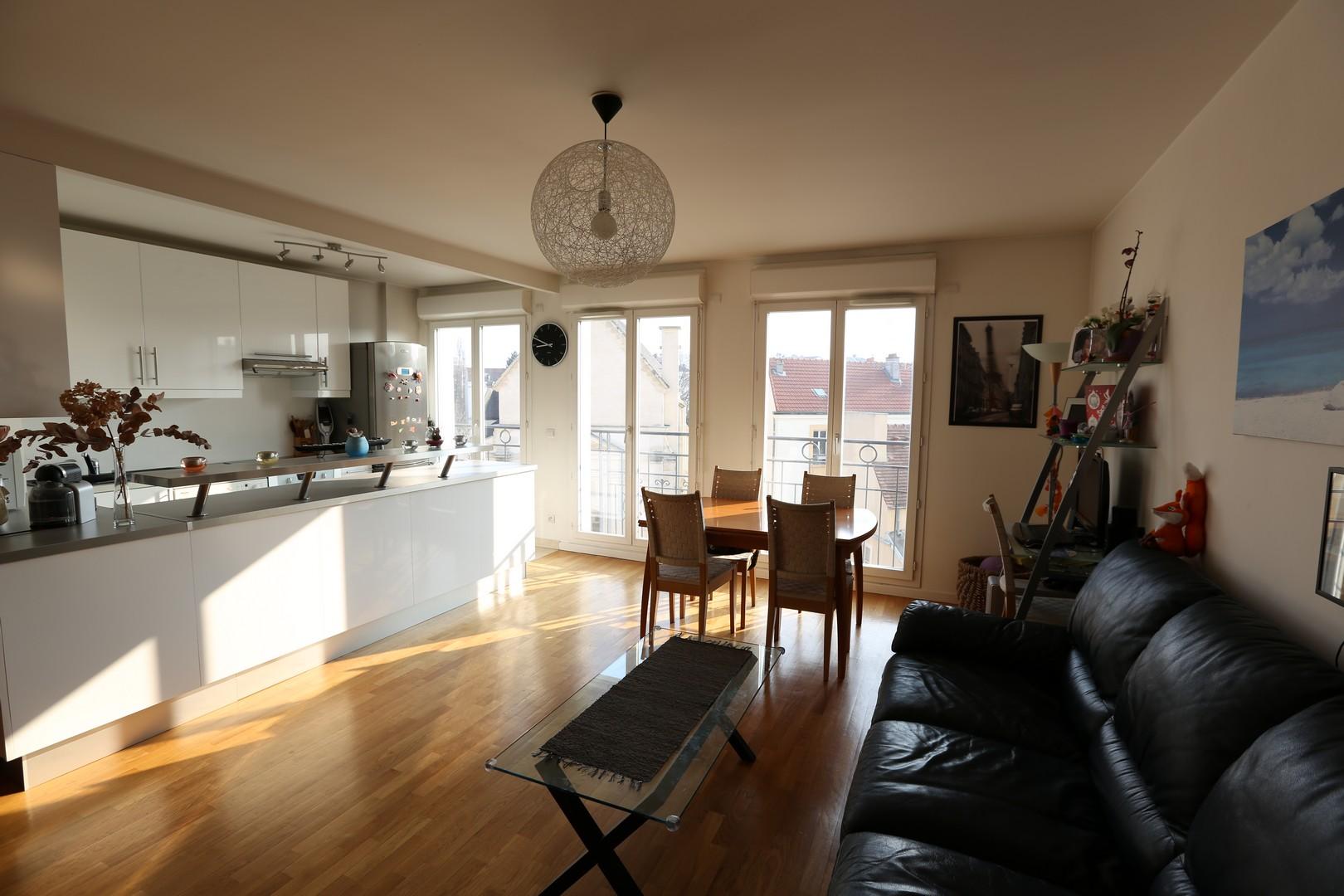 Cuisine moderne ouverte sur salon: belle maison architecte phil ...